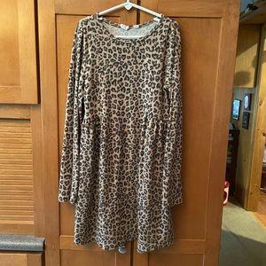 Gap Cheetah Print Dress 👗 size Medium